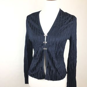 Griffith Gray for St. John Navy Blue Cardigan